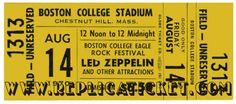 Led Zeppelin replica tickets from replicaticket.com