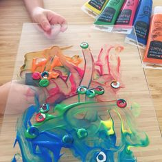 Colour Theory - Exploring colour mixing with Magnets! www.acraftyliving.com