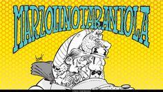 """MARZOLINO TARANTOLA UN AVVENTURIERO IN GIRO PER IL MONDO.  Ispirato al Saturnino Farandola di Robida (e anche alla """"Grande Corsa"""" di Blake Edwards) Marzolino, nobiluomo di stampo anglosassone , vaga per il mondo, dal Selvaggio West ad Atlantide, perennemente coinvolto in avventure di carattere fantastico, ricche di citazioni tratte dal genere avventuroso di fine Ottocento.  Creato per i fumetti in TV di Supergulp nel 1979, insieme a lui, troviamo l'inseparabile maggiordomo Passepartout…"""