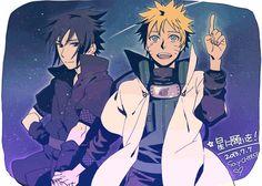 Sasuke x Naruto Sasunaru, Narusasu, Boruto, Sasuke X Naruto, Naruto Anime, Naruto Cute, Manga Art, Manga Anime, Otp