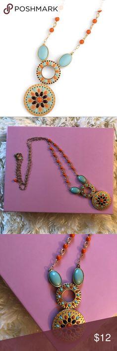Long Pretty Lia Sophia Necklace Pretty Colors! Lia Sophia Necklace in Good Condition. Lia Sophia Jewelry Necklaces