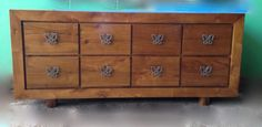 Buffet /Sideboard Solid Timber Metal handles Multiple Drawers