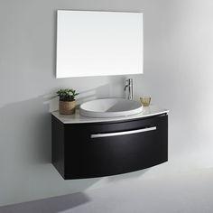 Allura 40 inch  Contemporary Espresso Bathroom Vanity WC-V18029-39-ESP by Wyndham Collection