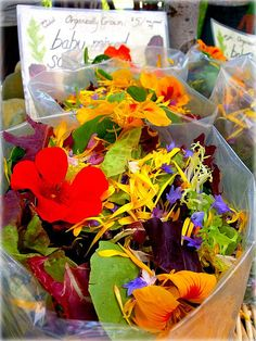 edible flowers....WO