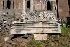 Milliarium Aureum: The Golden Milestone Stone Pillars, Pavement, Outdoor Furniture, Outdoor Decor, Bench, Random Stuff, Home Decor, Rome, Random Things
