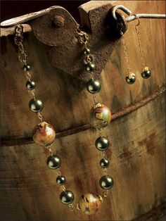Beading - Jewelry Patterns - Sets Patterns - Gorgeous Greens Set