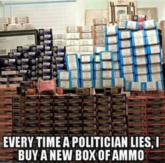 The only upside to paying attention to politicians is the motivation for more ammo!  ;-)