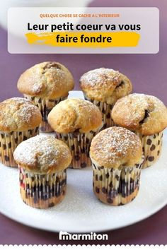 Nutella heart muffins, a small pleasure to taste it … – The most beautiful recipes Muffin Nutella, Nutella Muffins, Homemade Cake Recipes, Cupcake Recipes, Dessert Recipes, Batman Wedding Cakes, Alcohol Recipes, Chocolate Recipes, Coco