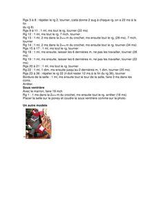 pdf - page Poney Crochet, Cthulhu, Lion, Words, Unicorn, Crochet Cow, Crochet Animal Patterns, Knitting Bear, Free Crochet Pattern Animals