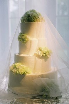 You could use the tulle idea outdoors to cover any food! Love the french tulle to protect the cake for outdoor reception