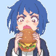 Anime Pixel Art, Anime Art, Cute Cartoon Drawings, Art Drawings, Chino Anime, Arte 8 Bits, Character Art, Character Design, 8 Bit Art