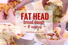 The world's no.1 low-carb mozzarella dough recipe - 4 ways. Watch the quick cooking video that has gone viral. #lowcarb #keto #pizza #glutenfree #ketofam #sugarfree | ditchthecarbs.com via @ditchthecarbs