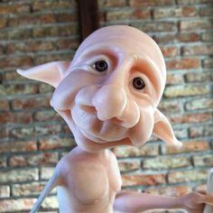 Mundo Mágico - Taller Oberón Polymer Clay Sculptures, Polymer Clay Dolls, Polymer Clay Projects, Sculpture Clay, Clay Crafts, Clay Fairies, Elves And Fairies, Clay People, Kobold