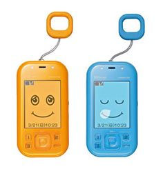 "Kyocera 'mamorino' mobile phone   ""As the safe mobile phone is intended for use by children under the age of 10, the phone is equipped with a location tracking feature*2 which allows parents to check the child's location at any time, and a location alert feature*2, that allows the child to easily inform their parent of their own location. Furthermore, the handset is equipped with an emergency alert that projects a loud alarm for the child's safety and the parent's piece-of-mind."""