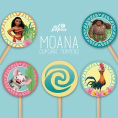 Printable Moana Cupcake toppers | Instant Download | DIY