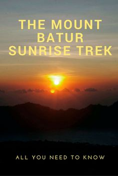 Curious about the famous Mount Batur sunrise trek? Here's all you need to know…