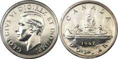 rare silver coins the 1947 Maple leaf Silver Dollar Silver Coins Worth, Us Silver Coins, Silver Dollar Coin, Valuable Pennies, Rare Pennies, Valuable Coins, Bullion Coins, Silver Bullion, Elizabeth Ii