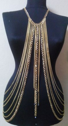 Hey, I found this really awesome Etsy listing at https://www.etsy.com/listing/181150199/gold-body-chainnecklacehalloweenfestival