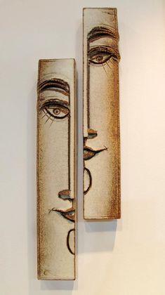 Small Ceramic Wall Sculptures Τοίχος -Μικρές Συνθέσεις   Anastasaki Ceramics