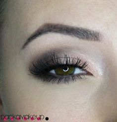 Everyday makeup. Sparkling bronze #inglot #MakeUpRevolution #MAC