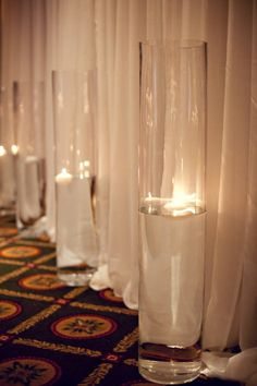 Candle idea for reception venue