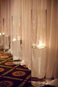 Candle idea for reception venue