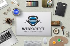 Check out Web Protect Logo Template by KrustyCrab on Creative Market