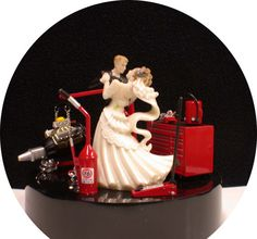 Racing Fan NasCar Auto MECHANIC Mac 76 Tool Engine Stand Wedding Cake Topper via Etsy