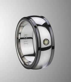 I just wana share a twinkling tungsten rings with yelleow CZ inlay with you. Nice eye-catching wedding band.