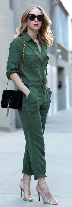 ♥Utility Paysuit Outfit Idea by Brooklyn Blonde