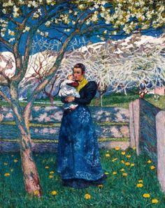 Giovanni Giacometti, Spring, 1900. Oil on canvas.