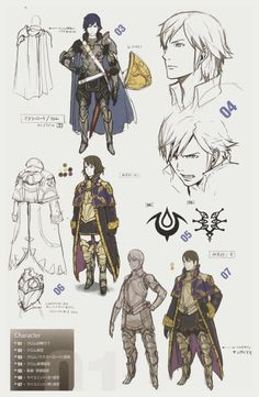 Scans I took a while ago for Lucina, Falchion, and Great Lord Chrom, and the Grandmaster class. These were from my Knights of Iris artbook!