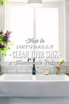 Four simple and homemade recipes that will help you clean your sink(s), naturally. These simple recipes will leave your sink sparkly clean.