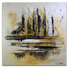 Acrylbild XL abstrakt silber gold Acryl Bild