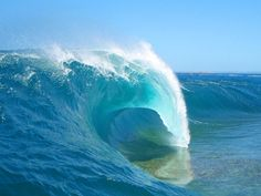 Cyclops, Australia. This is a heavy wave with a shallow reef that you do not want to take a spill on!