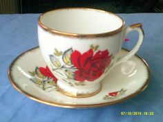 Imperial China Tea Cup and Saucer by BullwinklesAttic on Etsy