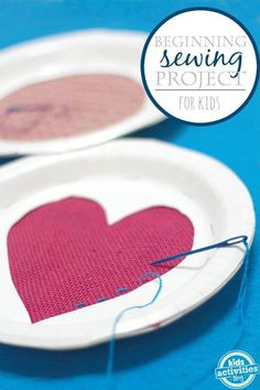 {DIY Sewing Cards} Beginning Sewing Projects for Kids More