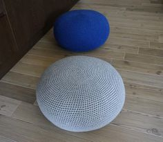 Crochet Pouf FootStool Bean Bag 114 | Craftsy