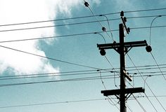 An electric pole by trippinlarry, via Flickr