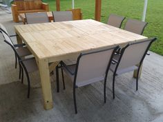 How To Make a Wood Pallet Dining Room Table | Pallet boards, Tes ...