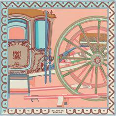 Châle 140 x 140 cm Hermès   Balade en Berline