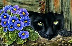 Схема вышивки «Черная кошка» - Схемы вышивки - Мимоза - Авторы - Портал «Вышивка крестом»