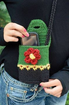 Ravelry: Perfect Purse pattern by Deborah Bagley.loving the wee floral stitch.Hiking Buddy Mini Purse with Flower Button pattern by Yarn Twins Ravelry: Perfect Purse pattern by Deborah BagleyRavelry: Perfect Purse pattern by Deborah Bagley Johnson Ho Love Crochet, Crochet Gifts, Knit Crochet, Crochet Beanie, Ravelry Crochet, Crochet Handbags, Crochet Purses, Crochet Bags, Pochette Portable