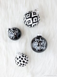 DIY Hand Painted Ornaments - Saffron Avenue : Saffron Avenue