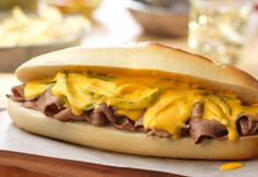 Cheesesteak lovers… this one's for you! Fresh hard rolls hold thinly sliced sirloin steak that is topped with a fantastic, cheesy veggie mixture. These sandwiches are so easy and delicious they're guaranteed to become a family favorite!