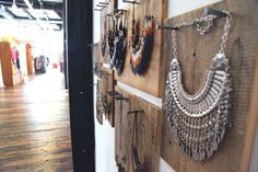 DIY Wood Necklace Hanger Dispays