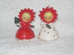Vintage Christmas Holt Howard Poinsettia Girls by BrilbunnySelections, $95.00