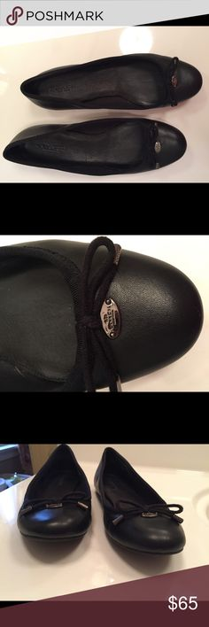 Coach leather ballet flat Black leather Size 7 Excellent condition, no flaws Coach Shoes Flats & Loafers