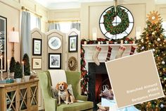 Benjamin Moore's Blanched Almond paint color from Ballard Designs catalog Room Colors, Wall Colors, Paint Colors, Colours, Benjamin Moore, Blanched Almonds, Ballard Designs, Home Renovation, Color Inspiration