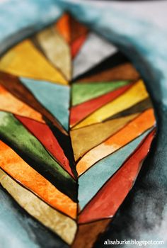 Alisa Burke watercolour - deconstructing fall...love the shapes and colours